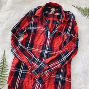 Ultra comfy Woolrich plaid button up